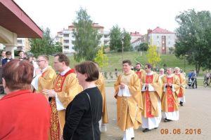 Msza Święta i poświecenia obeliska ku czci Św. Jana Pawła II 09.06.16